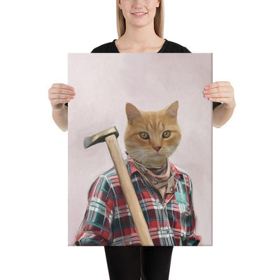 Art Your Cat The Lumberjack - Custom (Your Pet) Portrait