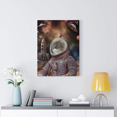 Art Your Cat The Out of Space Astronaut - Custom (Your Pet) Portrait