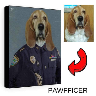 Art Your Cat THE POLICE OFFICER - CUSTOM (YOUR PET) PORTRAIT