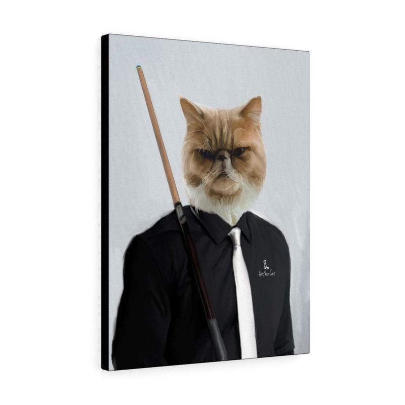 Art Your Cat THE POOL PLAYER - CUSTOM (YOUR PET) PORTRAIT