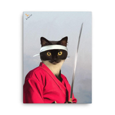 Art Your Cat The Samurai - Custom (Your Pet) Portrait