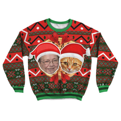 Art Your Cat Unisex Ugly Sweater #5 - Your Beautiful Cat (1-20 faces)
