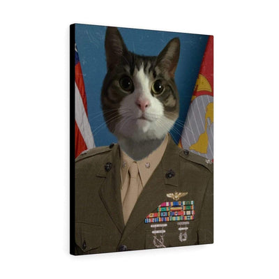 Art Your Cat USMC ALPHA MARINE - CUSTOM (YOUR PET) PORTRAIT