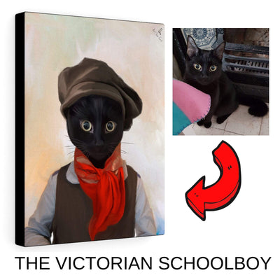 Art Your Cat Victorian Schoolboy- Custom (Your Pet) Portrait
