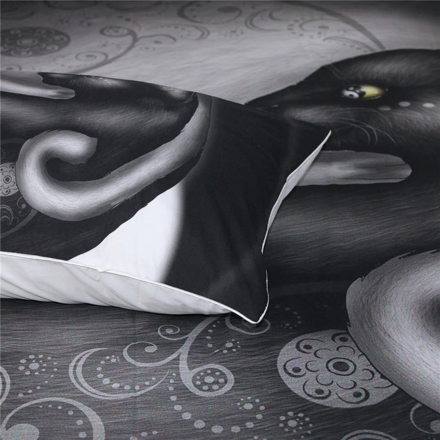 Yinyang Cat Morning by Khalia Art - 3 Pieces Bedding Set