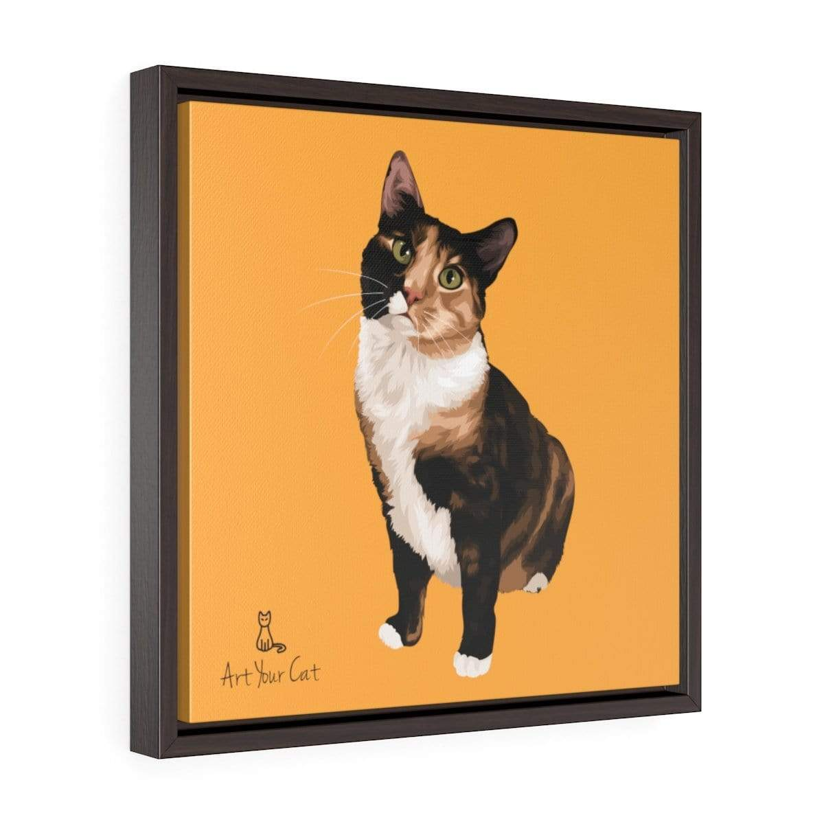Your Cat Square Framed Premium Gallery Wrap Canvas Art Your Cat