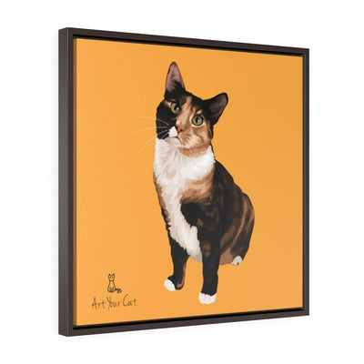 Art Your Cat YOUR CAT - Square Framed Premium Gallery Wrap Canvas