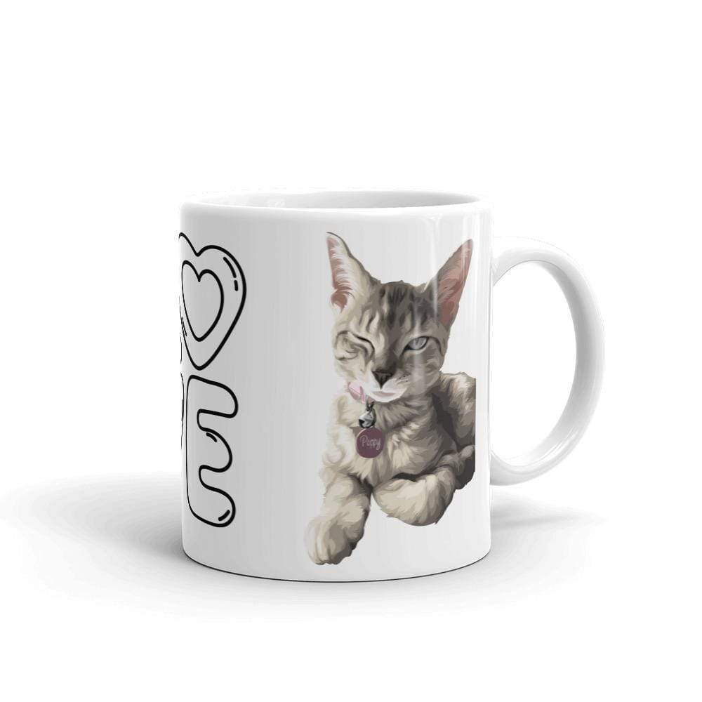 Art Your Cat YOUR CAT - White Glossy Mug
