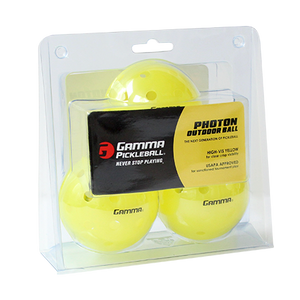 GAMMA PHOTON Outdoor Yellow Pickleballs (3-Pack) | PickleballChalet.com