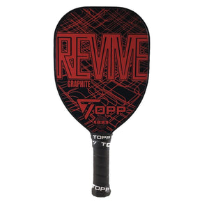 TOPP Revive Teardrop Graphite Pickleball Paddle Red | PickleballChalet.com