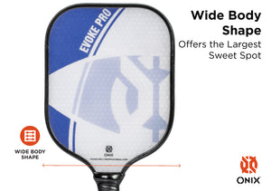 ONIX Evoke Pro Composite Pickleball Paddle Blue | PickleballChalet.com