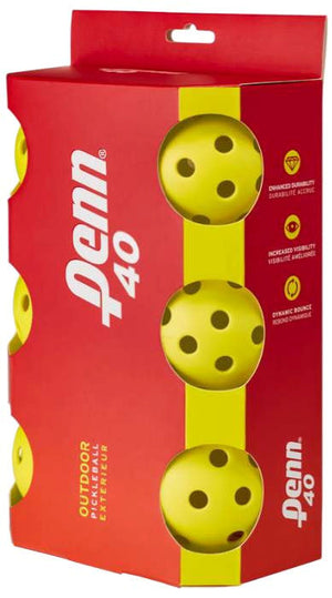 HEAD/PENN 40 Outdoor Yellow Pickleballs (6-Pack) | PickleballChalet.com