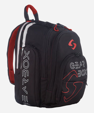 Gearbox Court Backpack (Black w/Red Trim) | PickleballChalet.com