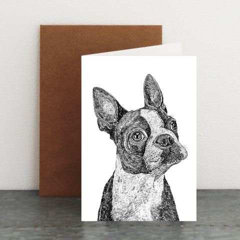 'Basil The Boston Terrier' Card