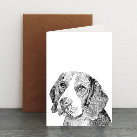 'Ferris The Beagle' Card