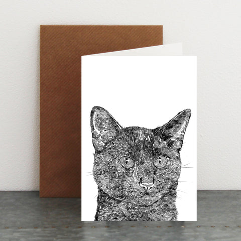 'Arthur The Black Cat' Card