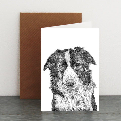 'Jack the Border Collie' Card