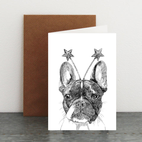 'Celebration Boston Terrier' Card