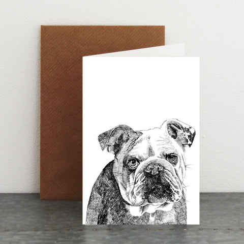'Leonard The Bulldog' Card