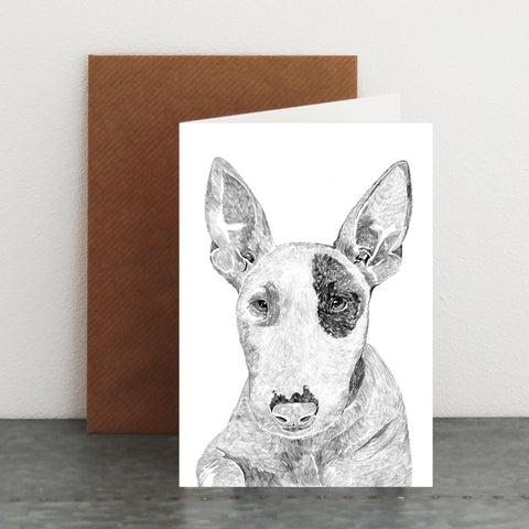 'Heston The Bull Terrier' Card