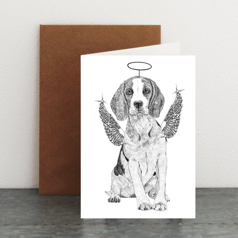 'Beagle Fairy' Christmas Card