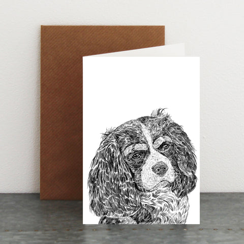 'Louis The Cavalier King Charles Spaniel' Card