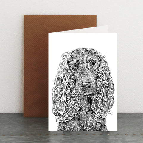 'Chester The Cocker Spaniel' Card