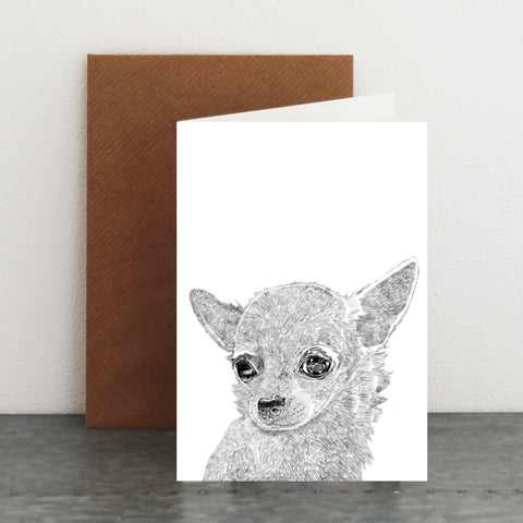 'Teddy The Chihuahua' Card