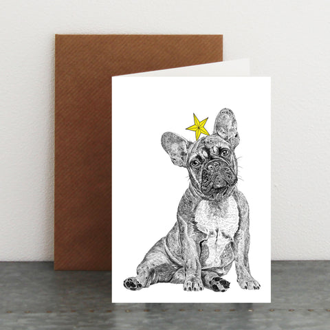 'Frenchie Star' Christmas Card