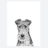 'Fergus The Fox Terrier' Print