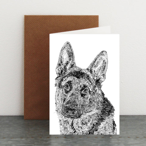 'Roger The German Shepherd' Card