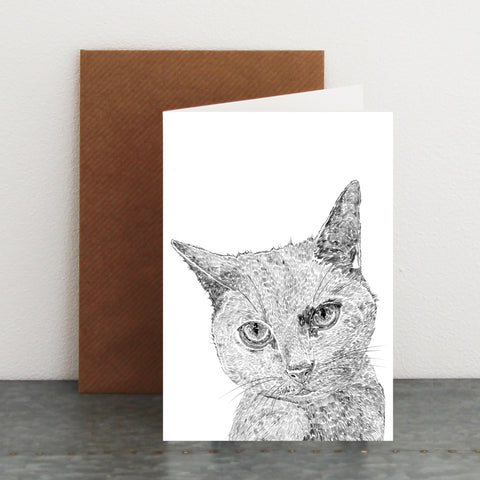 'Thelma The Grey Cat' Card