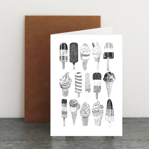 'We All Scream for ICE CREAM' Card