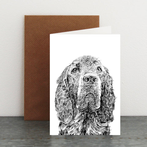 'Woody The Red Setter' Card