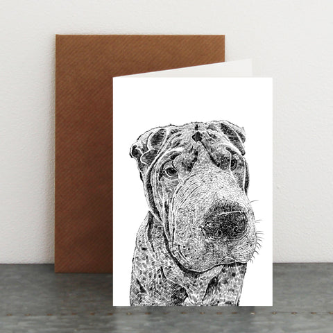 'Henry The Shar Pei' Card
