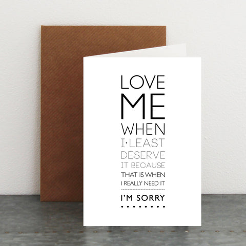 'Sorry...' Card