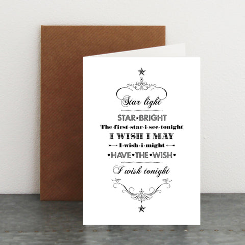'Star light, Star bright...' Card
