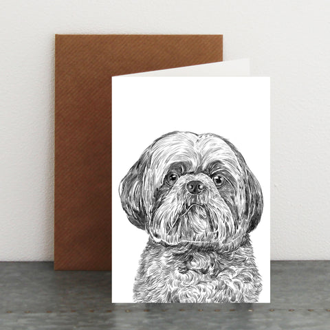 'George The Shih tzu' Card