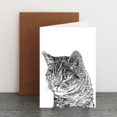 'Cooper The Tabby Cat' Card