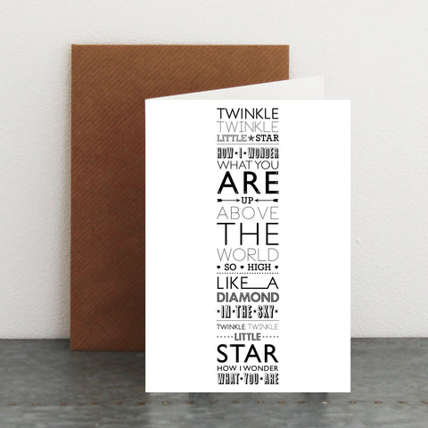 'Twinkle Twinkle Little Star...' Card