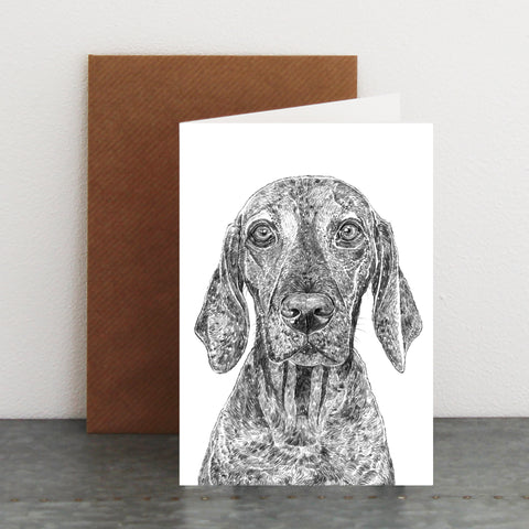 'Austin the Vizsla' Card