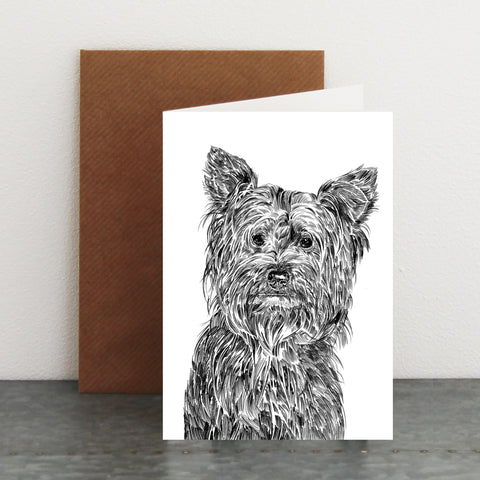 'Freddie The Yorkshire Terrier' Card
