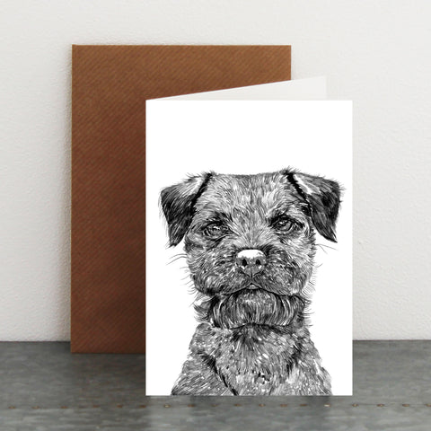'Baxter The Border Terrier' Card