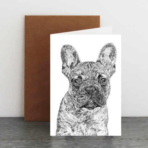 'Blue the French Bulldog' Card