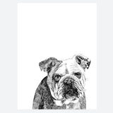 'Leonard The Bulldog' Print