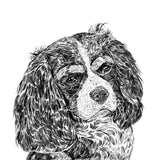 'Louis The Cavalier King Charles Spaniel' Print