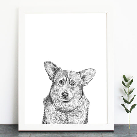 'Duke The Corgi' Print
