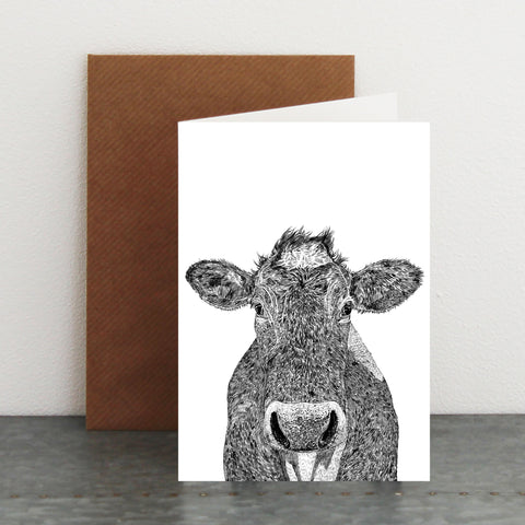 'Brian The Cow' Card