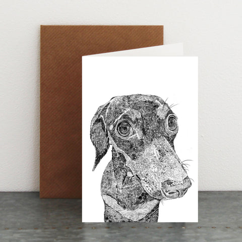 'Ralph The Miniature Dachshund' Card