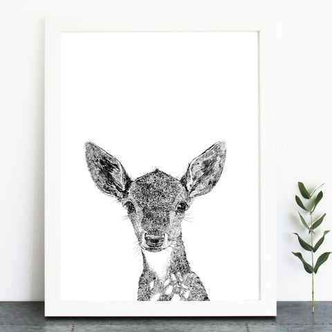'Darcy The Deer' Print